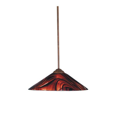Cabernet Swirl 1-Light Mini Pendant