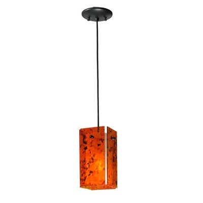Metro Magma Quadrato 1-Light Mini Pendant Shade Color: Dark Orange