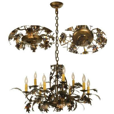 Oak Leaf 9-Light Candle-Style Chandelier
