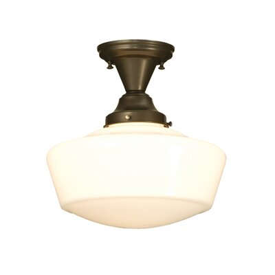 Revival Schoolhouse Traditional Globe 1-Light Semi-Flush Mount