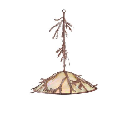 Pine Branch 3-Light Bowl Pendant