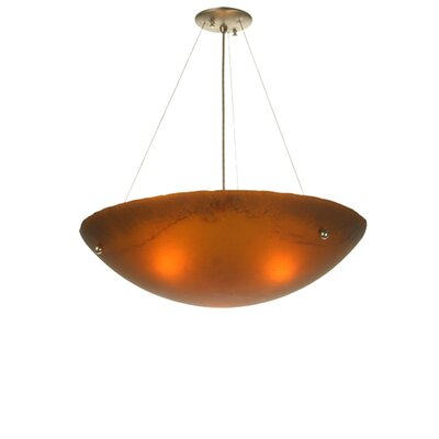 Metro Fusion Espresso 3-Light Inverted Pendant