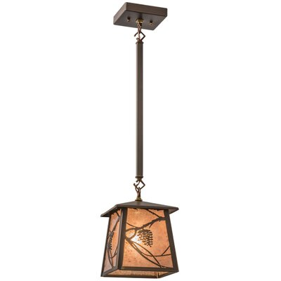 Whispering Pines 1-Light Mini Pendant Shade Color: Silver