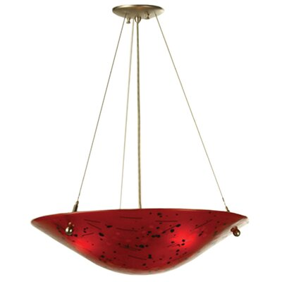 Metro Fusion Luce Rossa 3-Light Inverted Pendant