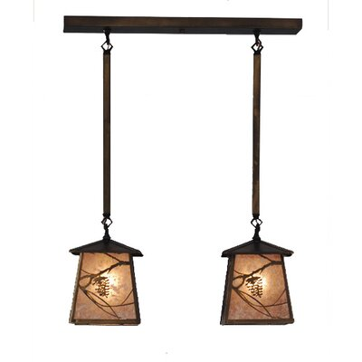 Whispering Pines 2-Light Kitchen Island Pendant
