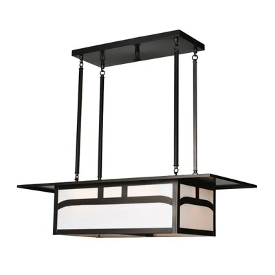 Hyde Park Double Bar Mission 4-Light Kitchen Island Pendant