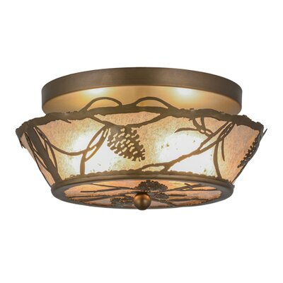 Whispering Pines 2-Light Flush Mount Size: 6.5 H x 12 W x 12 D
