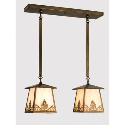 Mountain Pine 2-Light Kitchen Island Pendant