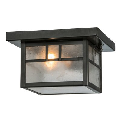 Hyde Park Double Bar Mission 1-Light Flush Mount