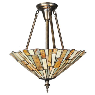 Jadestone Delta 3-Light Semi Flush Mount