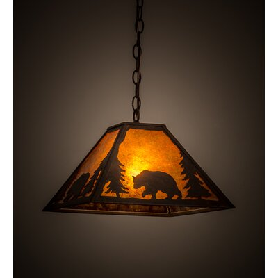 Lone Bear 1-Light Mini Pendant
