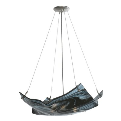 Metro Noir Swirl Crinkle 4-Light Inverted Pendant