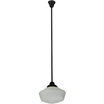 Revival Traditional 1-Light Schoolhouse Pendant Size: 72 H x 16 W x 16 D