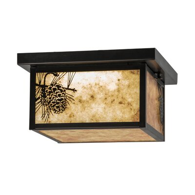 Hyde Park Winter Pine LED 4-Light Flush Mount
