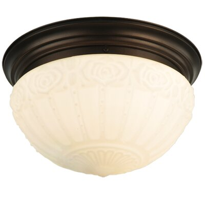 Puffy Rose 3-Light Flush Mount