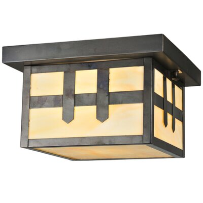Hyde Park Double Cross Mission 1-Light Flush Mount