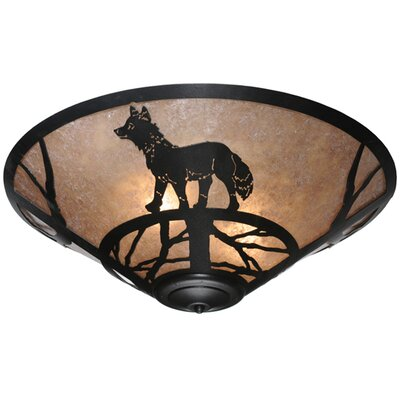Fox on the Loose 3-Light Flush Mount