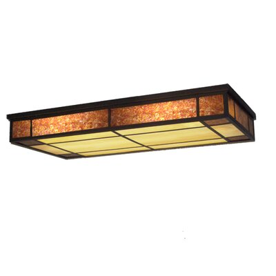 Polaris Oblong 3-Light Flush Mount