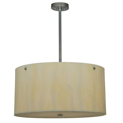 Cilindro Faux Alabaster 6-Light Drum Pendant