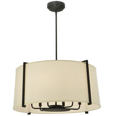 Cilindro Lucy 6-Light Drum Pendant