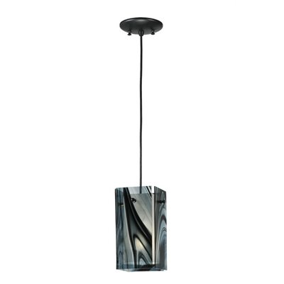 Metro Noir Swirl Quadrato 1-Light Mini Pendant