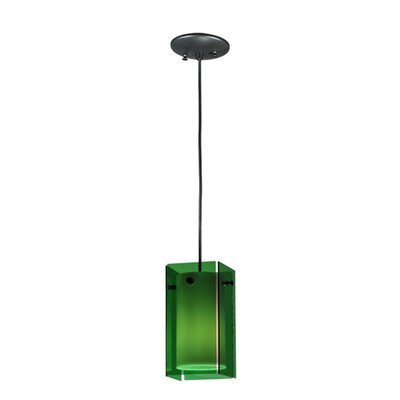 Metro 1-Light Mini Pendant Shade Color: Green