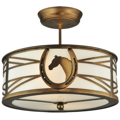 Horseshoe 2-Light Semi-Flush Mount
