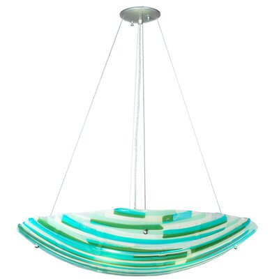 Metro Fusion La Spiaggia Glass 4-Light Inverted Pendant