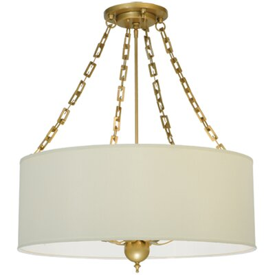 Cilindro Eggshell 6-Light Drum Pendant