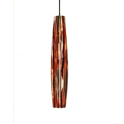 Metro Fusion Marina Glass 1-Light Mini Pendant Size: 35 - 88 H x 6 W x 6 D
