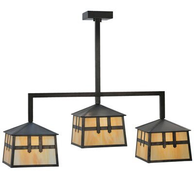 Stillwater Double Cross Mission 3-Light Kitchen Island Pendant