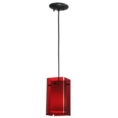 Metro 1-Light Mini Pendant Shade Color: Red