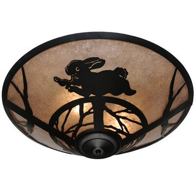 Rabbit on the Loose 3-Light Flush Mount