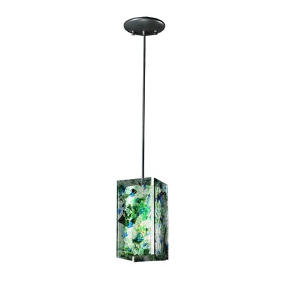 Metro Times Square Quadrato 1-Light Mini Pendant Finish: Steel