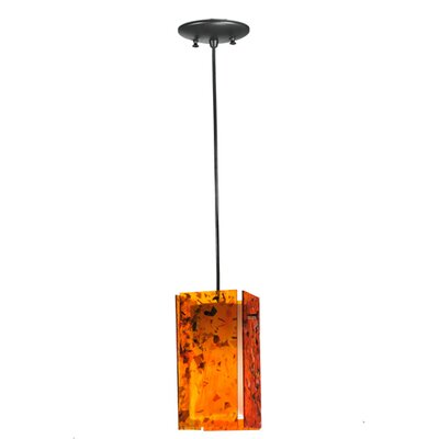 Metro Magma Quadrato 1-Light Mini Pendant Shade Color: Orange