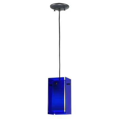 Metro 1-Light Mini Pendant Shade Color: Blue