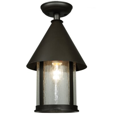 Keebler 1-Light Semi-Flush Mount