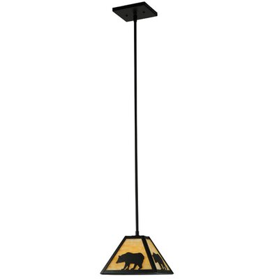 Lone Bear 1-Light Mini Pendant Size: 38.5 H x 8 W x 8 D
