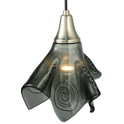 Metro Fusion Super Nova Handkerchief 1-Light Mini Pendant Shade Color: Transparent Black