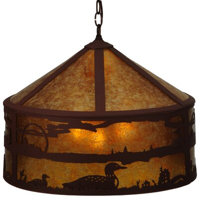 PendantLoon On the Lake 3-Light Drum Pendant
