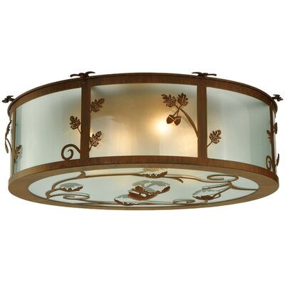 Oak Leaf and Acorn 4-Light Flush Mount