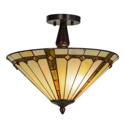 Belvidere 2-Light Semi Flush Mount