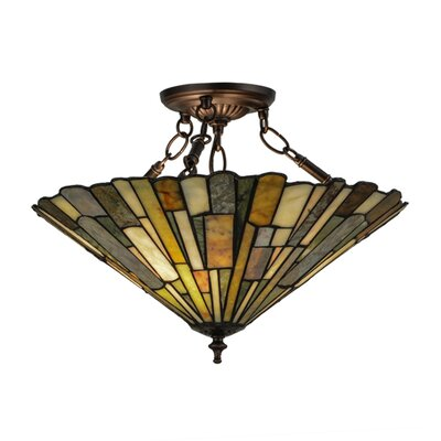 Delta Jadestone 3-Light Semi Flush Mount