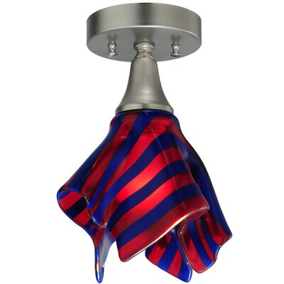 Metro Fusion Satrials Dream Handkerchief 1-Light Flush Mount