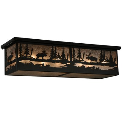Moose at Lake 8-Light Flush Mount