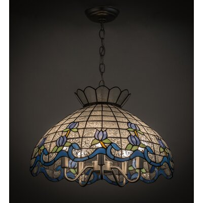 Roseborder 5-Light Bowl Pendant