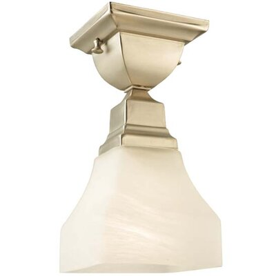 Bungalow Alabaster Swirl 1-Light Flush Mount