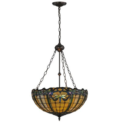 Dragonfly Trellis 2-Light Inverted Pendant