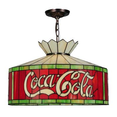Coca-Cola 3-Light Drum Pendant