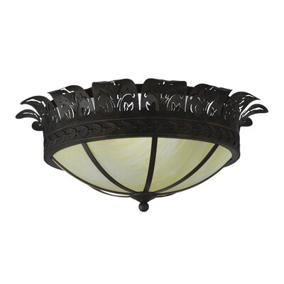 Crowne 4-Light Flush Mount Size: 20 H x 24 W x 24 D
